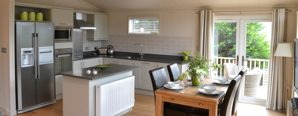 Luxury Lodge Kitchen in the Lake District